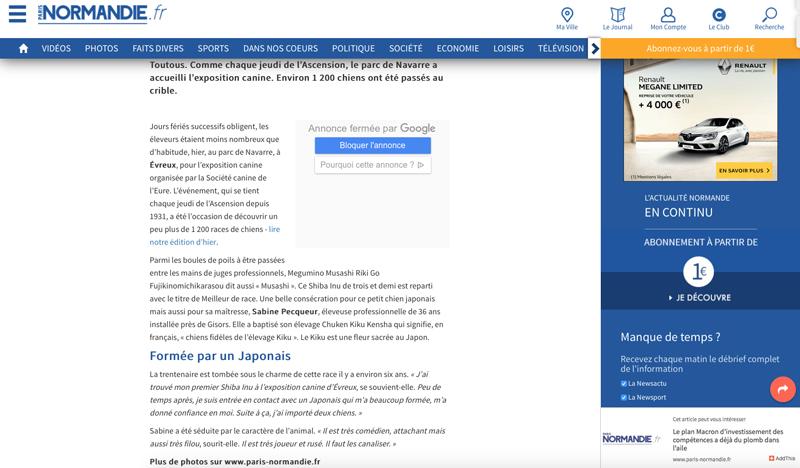 Journal-paris-normandie-Musashi-Meileur-race-BOB-Evreux-exposition-canine
