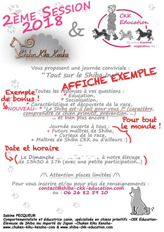 affiche-Tout-sur-le-Shiba-inu-seminaire-conference-cours-collectif-atelier-canin-education-canine-info-renseignement-journee-deroulement-CKK-elevage